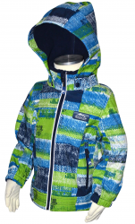 Bugga Chlapčenská funkčná softshellová bunda - modrozelená, 122 cm