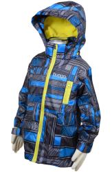 Bugga Chlapčenská nepremokavá bunda s podšívkou - modro-šedá, 116 cm