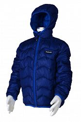 Bugga Chlapčenská nylonová prešívaná bunda - tmavo modrá, 134 cm