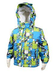 Bugga Chlapčenská zimná bunda s kožušinkou - modro-zelená 1bca7cb755a