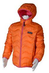Bugga Dievčenská nylonová prešívaná bunda - oranžová