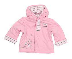 Bugga Dievčenské kabátik s kapucňou - ružový, 68 cm