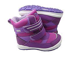 Bugga Dievčenské zimné topánky s membránou - ružovo-fialové, EUR 34