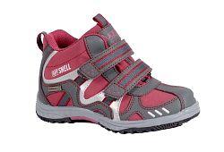 Bugga Softshellová členková detská obuv - červená, EUR 35