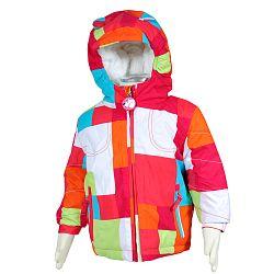 Bugga Zimná bunda s kožušinkou - ružovo-oranžová, 92 cm
