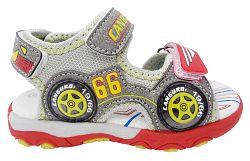 Canguro Chlapčenské sandále s autíčkom - sivé, EUR 21