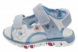 Canguro Dievčenské sandále s flitrami - svetlo modré, EUR 25