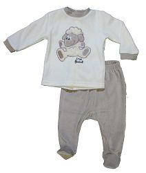 Carodel Detský spací komplet s ovečkou - béžový, 74 cm
