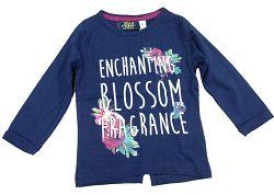 Carodel Dievčenské tričko s rozparkom - modré, 116 cm
