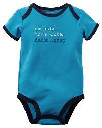 Carter's Chlapčenské doby Dad's  Lucky - modré, 62 cm