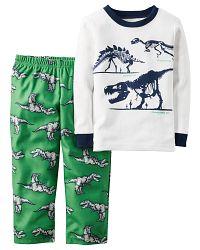 Carter's Chlapčenské pyžamo s dinosaurami - farebné, 80 cm