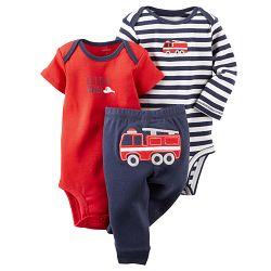 Carter's Chlapčenský komplet s hasičským autom, 56 cm