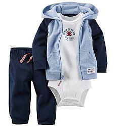 Carter's Chlapčenský športový trojkomplet - modro-biely, 80 cm