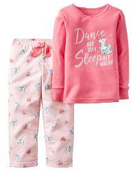 Carter's Dievčenské pyžamo s psíkom - ružové, 80 cm