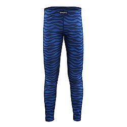 Craft Detské vlnkované funkčné nohavice Mix and Match - modré