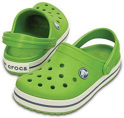 Crocs Detské sandále Crocband Kids Parrot Green White, EUR 22-24
