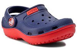 Crocs Detské sandále Duet Wave - červeno-modré, EUR 19/20