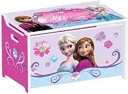 Delta Detská drevená truhla na hračky Frozen