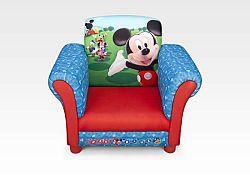 Delta Disney detské čalúnené kresielko Mickey Mouse
