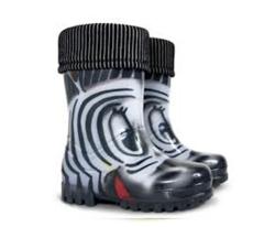 Demar Detské gumáky TWISTER LUX PRINT S Zebra - väčšie, EUR 34/35