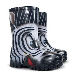 Demar Dievčenské gumáky Twister Print S Zebra, EUR 28/29