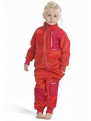 Didriksons1913 Detská fleecová mikina Ciqala - červená, 110 cm