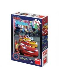 Dino Puzzle Cars Neon 100 dielikov
