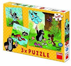 Dino Puzzle Krtko a nohavičky 3x55 dielikov