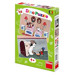 Dino Puzzle s psíkmi 2 x 48 dielikov