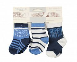 Dirkje Chlapčenské ponožky New York, London ... - modré, 6-12 měsíců