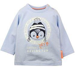 Dirkje Chlapčenské tričko s tučniakom - svetlo modré, 80 cm