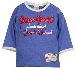 Dirkje Chlapčenské tričko Splash School - modré, 80 cm