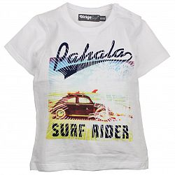 Dirkje Chlapčenské tričko Surfer Rider - biele, 74 cm