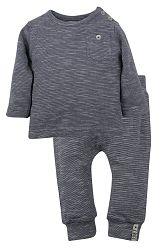 Dirkje Chlapčenský žíhaný dvojkomplet - sivý, 80 cm