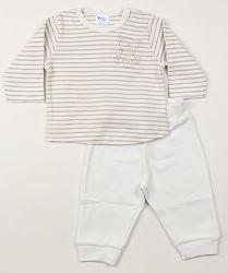 Dirkje Detské pyžamo s medvedíkom - béžové, 56 cm