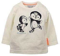 Dirkje Detské tričko s tučniakmi - biele, 68 cm