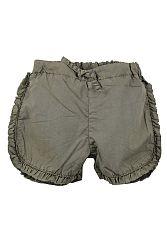 Dirkje Dievčenské šortky s volánikmi - khaki, 110 cm