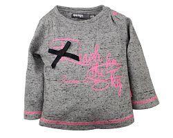 Dirkje Dievčenské tričko Reach - sivé, 116 cm