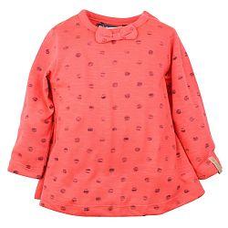 Dirkje Dievčenské tričko s bodkami a mašľou - oranžové, 116 cm
