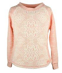 Dirkje Dievčenský sveter s čipkou - oranžový, 134 cm