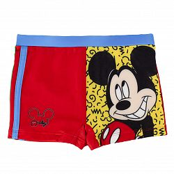 Disney Brand Chlapčenské plavky Mickey Mouse - červené, 122 cm