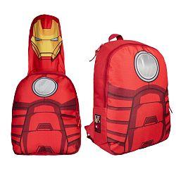 Disney Brand Chlapčenský batoh s maskou Avengers - červený