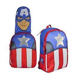 Disney Brand Chlapčenský batoh s maskou Avengers - modro-červený