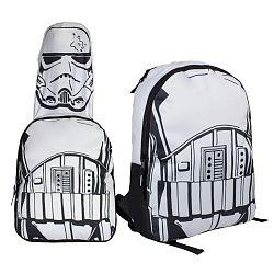 Disney Brand Chlapčenský batoh s maskou Star Wars - biely
