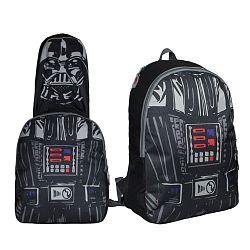 Disney Brand Chlapčenský batoh s maskou Star Wars - čierny
