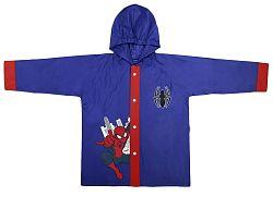 Disney Brand Chlapčenský kabátik do dažďa Spiderman - modrý, 116 cm