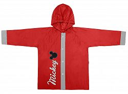 Disney Brand Detský kabátik do dažďa Mickey Mouse - červený, 116 cm