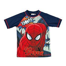 Disney Chlapčenské kúpacie tričko Spiderman - modré