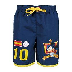Disney Chlapčenské šortky Mickey - modré - žlté, 146 cm
