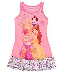Disney Dievčenská nočná košieľka Princezné s volánmi - ružová, 92 cm